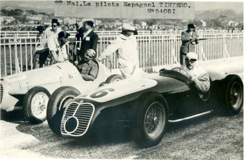 1949, Marsella. Tintore y su Maserati A6GCS