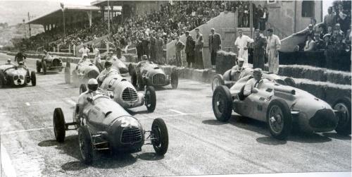 1949, Marsella. Salida de la primera manga del G.P. de Marsella