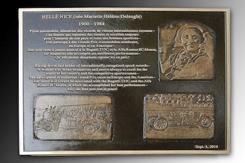 Placa conmemorativa de Helle Nice