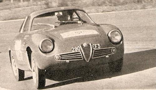 Alfa Romeo Giulietta Sprint Zagato Lageneste/Grede. Tour de France 1960