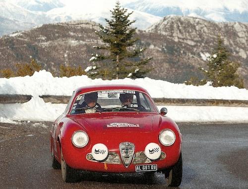 Alfa Romeo Giulietta Sprint Zagato. Rally Montecarlo Historique 2011