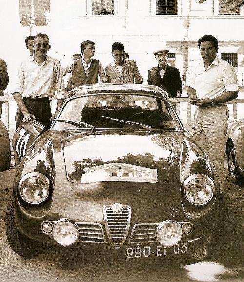 Alfa Romeo Giulietta Sprint Zagato. Lageneste/Grede Coupe des Alpes 1960
